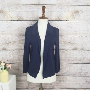 Anthropologie Moth Navy Collared Cardigan Small